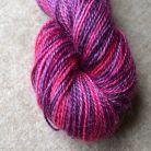 Hand dyed mohair sock yarn