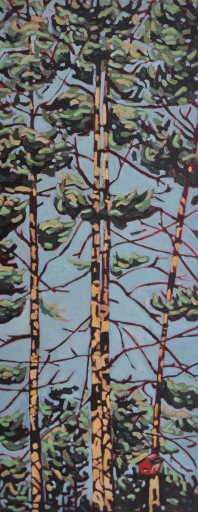 Pine Trees with Birdhouse-HighRes
