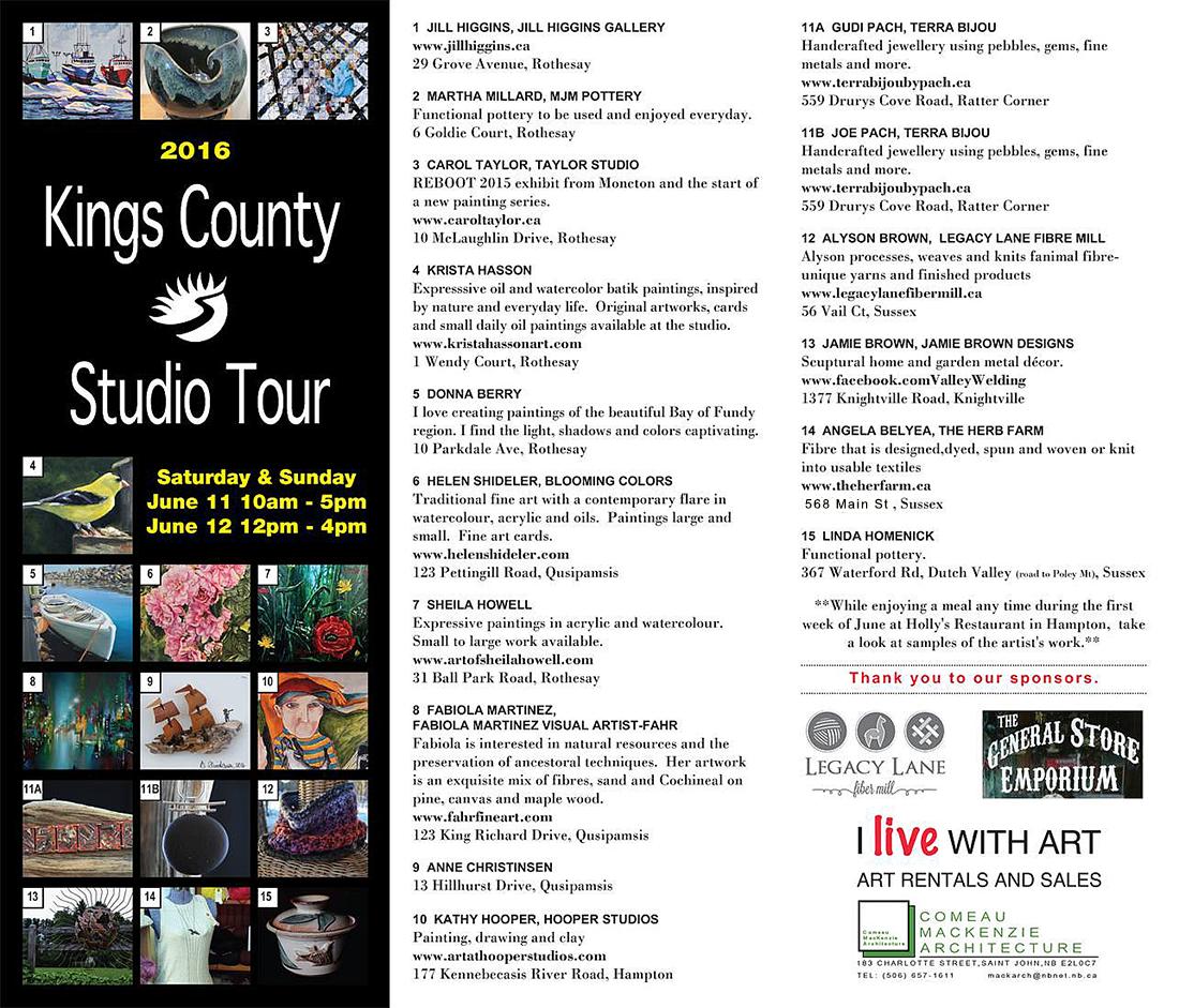 KCST 2016 Brochure Kings County Studio Tour 2018 – Studio Brochure